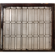 Antique American Leaded Glass Window with Ribbed Glass