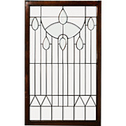 Antique American Beveled and Leaded Glass Window, Philadelphia