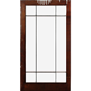 Antique American Leaded and Beveled Glass Window