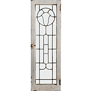 Antique American Beveled and Leaded Glass Windows