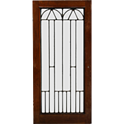 Antique American Leaded Glass Windows, Arts and Crafts