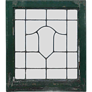 Antique Arts & Crafts American Leaded Glass Windows