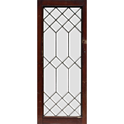 Antique American Leaded and Beveled Glass Windows, Early 1900s