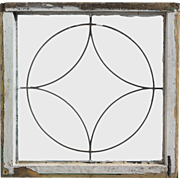 Antique American Leaded Glass Window, Early 1900s