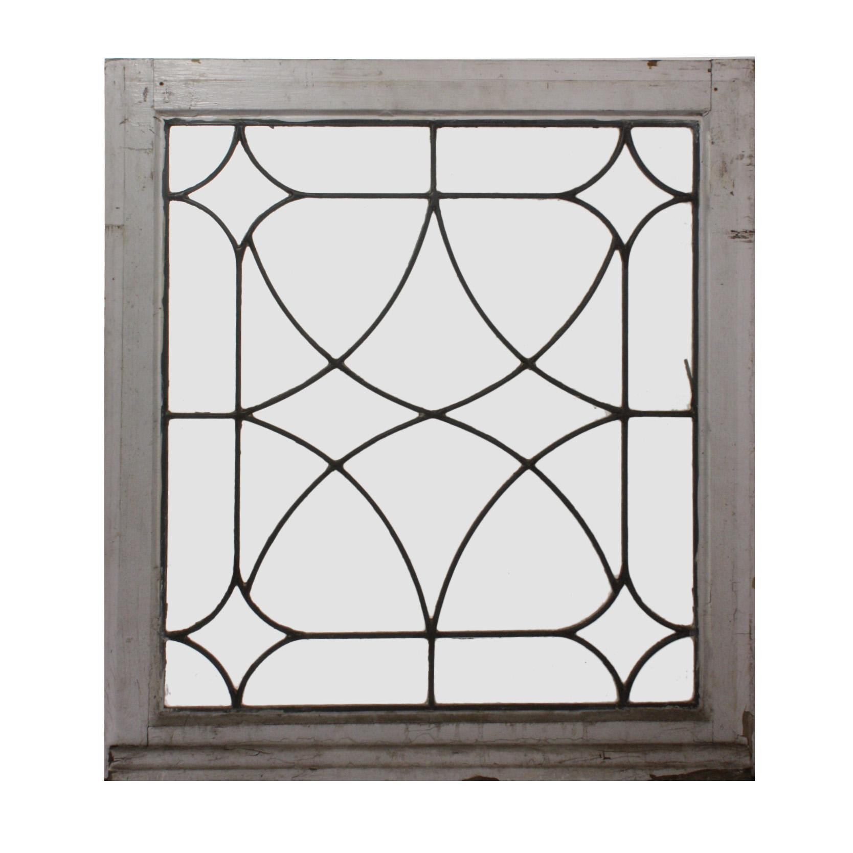 Antique american leaded glass window early 1900s from for 1900 stained glass window