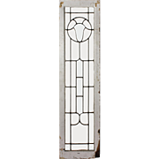 Antique American Beveled and Leaded Glass Window with Shield