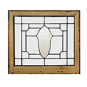 Antique Leaded and Beveled Glass Windows, Hand-Cut Detail