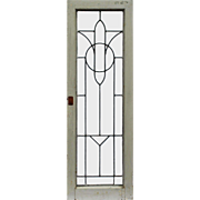 Antique American Leaded Glass Windows, Early 1900s