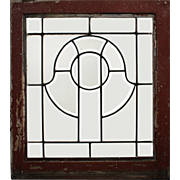 Antique Arts & Crafts American Leaded and Beveled Glass Windows
