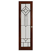 Geometric American Leaded and Beveled Glass Window