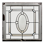 Beautiful Antique Leaded and Beveled Glass Windows, Hand-Cut Star