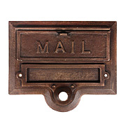 Fantastic Antique Cast Bronze Letter Slot with Name Holder and Doorbell, Helm Co.