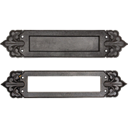 Antique Cast Iron Letter Slot Set with Fleur-De-Lis