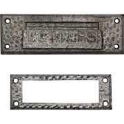 Antique Letter Slot with Matching Interior Trim Piece, Early 1900s