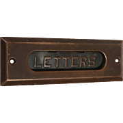 Antique Brass Letter Slot Set, Early 1900s