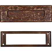 Antique Cast Bronze Letter Slot Set, Early 1900s