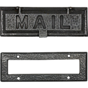 "Hammered ""MAIL"" Letter Slot with Matching Interior Trim Piece"