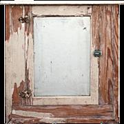 Antique Bathroom Medicine Cabinet with Beveled Mirror