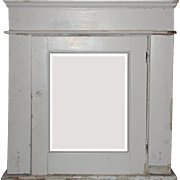 Antique Bathroom Medicine Cabinet with Beveled Mirror & Bead Board