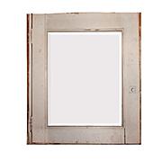 Salvaged Bathroom Medicine Cabinet with Beveled Mirror