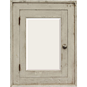 Salvaged Antique Medicine Cabinet with Beveled Mirror, Early 1900s