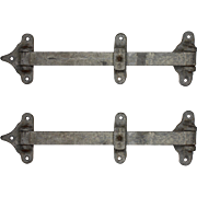 Pair of Antique Refrigerator Door Hinges