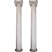 Salvaged Pair of Antique Ionic Columns, Early 1900s