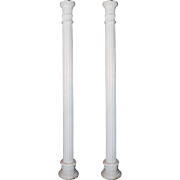 Reclaimed Pair of Cast Iron Fluted Columns, Early 1900s