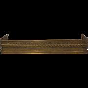 Antique Brass Fireplace Fender, 1880's