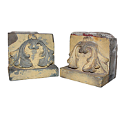Antique Limestone Corbels with Foliate Design, Early 1900s