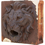 Antique Terra Cotta Figural Fountain Piece, Lion