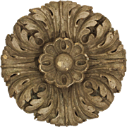 Antique Architectural Ornament in Plaster, Flower