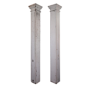 Reclaimed Pair of Antique Columns, Early 1900s
