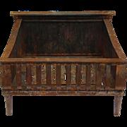Antique Cast Iron Fireplace Basket, Late 19th Century