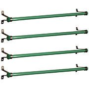 Antique Green Glass Towel Rods, Early 1900's
