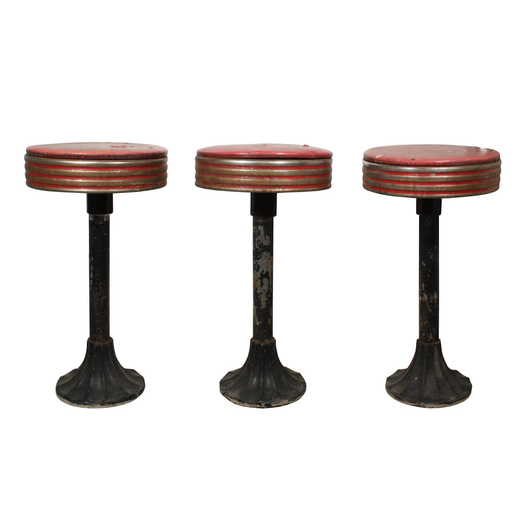 Fabulous Antique Soda Shop Stools, c.1930