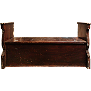 Fantastic Reclaimed Antique Built-In Bench, Early 1900s