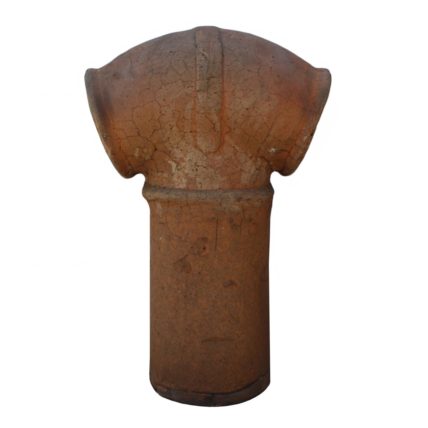 Wonderful Antique Terra Cotta Chimney Pot, Early 1900's