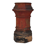 Salvaged Antique Terra Cotta Chimney Pot, Early 1900's