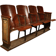 Reclaimed Antique Art Deco Theatre Seats, c.1920s