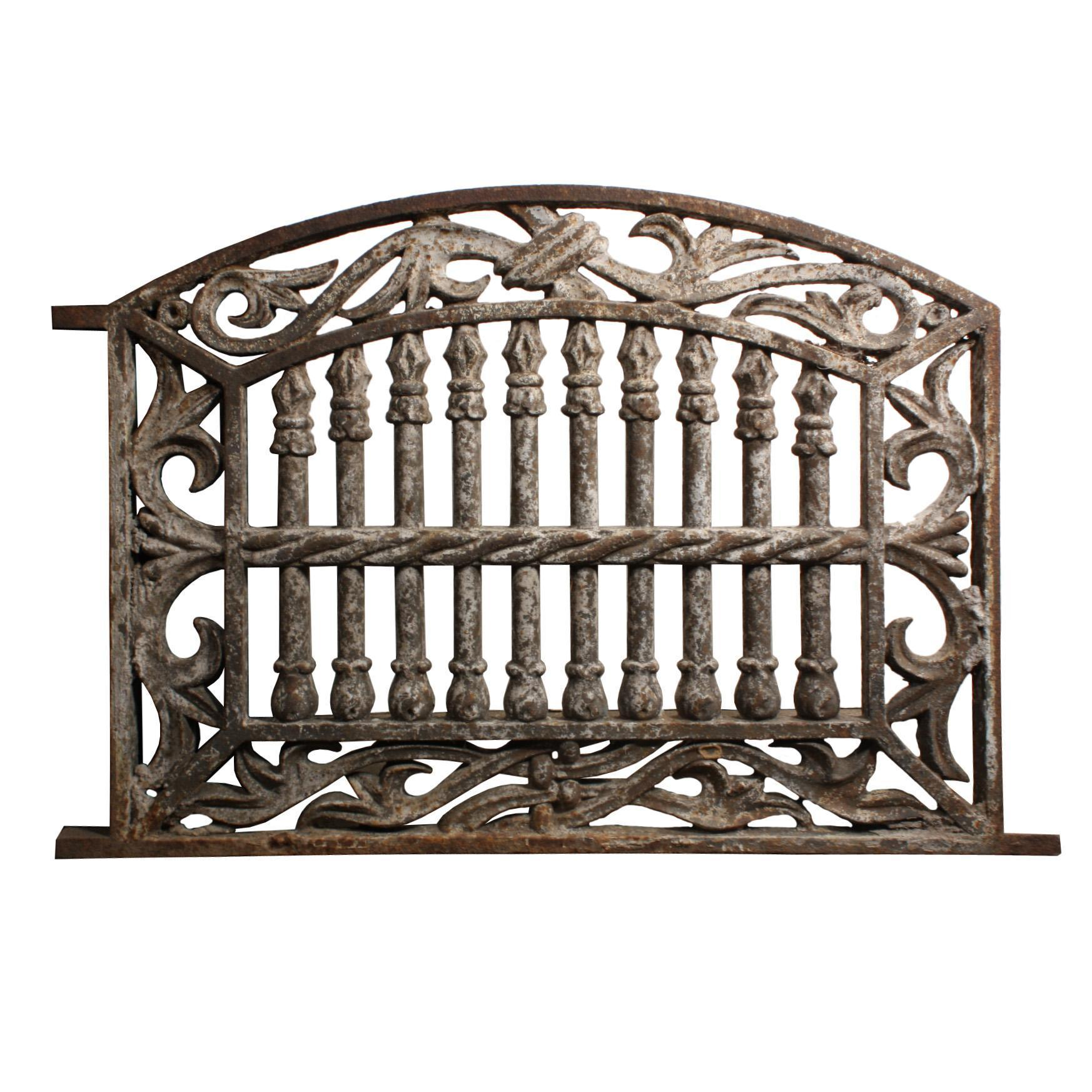 Antique Arched Cast Iron Foundation Grate, Early 1900s