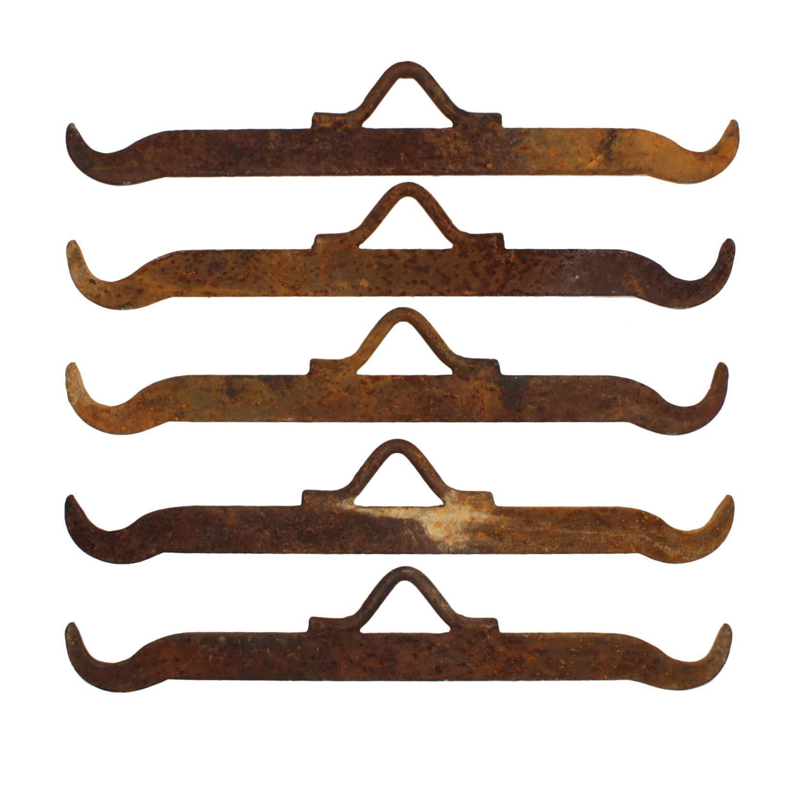 Antique Meat Hooks from Memphis Smokehouse, Early 1900s