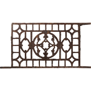 Antique Cast Iron Foundation Grate, Late 19th Century