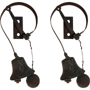 Antique Servant Bells from Philadelphia Home, Late 19th Century