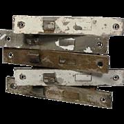 "Antique Mortise Locks in Chrome by Yale Junior, 2-1/2"" Backset"