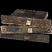 "Fabulous Antique Eastlake Mortise Lock, 2-3/8"" Backset"