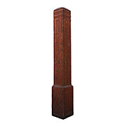 Reclaimed Antique Oak Newel Post, Early 1900s