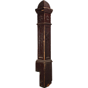Reclaimed Antique Newel Post with Fleur-De-Lis