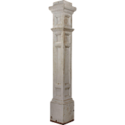 Reclaimed Antique Newel Post with Egg-and-Dart Trim, Early 1900s