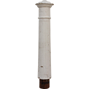 Salvaged Antique Turned Newel Post, Early 1900s